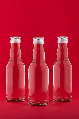 casa-vetro 20 Leere kleine Kropfhals Glasflaschen mit Schraubverschluss 200 ml PP28 zum selbst befüllen als Saftflaschen, Sirupflaschen, Likörflaschen 0,2 Liter mit Verschluss (20 x200ml)