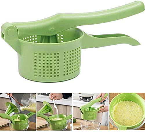 Exprimidor de relleno de vegetales Herramienta de exprimir de frutas Herramienta de deshidratación de mano para cocina comedor verde