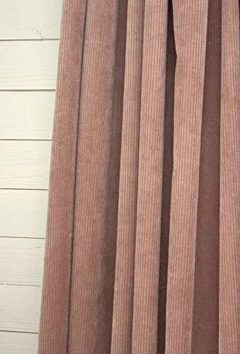 LillaBelle Vorhang Suna Samt Kord Puder 140x250 cm 2 Stück Blickdicht Gardinenschals Set Landhaus