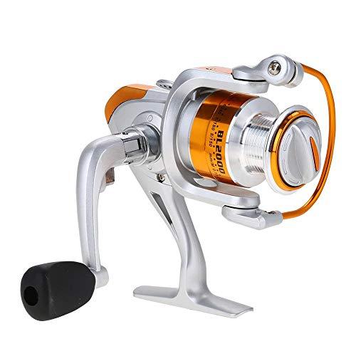 AYNEFY Carrete de Pesca Ultra Metal Spinning, 12BB 5.5:1 Carrete de Pesca Giratorio de latón para Pesca de Agua Dulce/Agua Salada (BL1000-BL7000 Series), BL1000