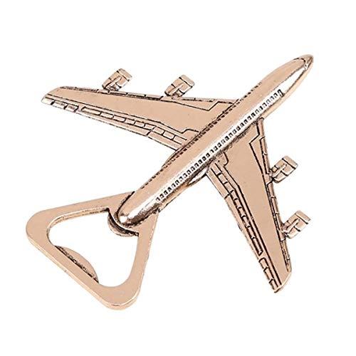 Apribottiglie per aereo, solido e facile da usare, migliori apribottiglie, regali aeronautici per pilota, decorazione aereo, regalo di compleanno per veterano aereo apribottiglie in confezione regalo