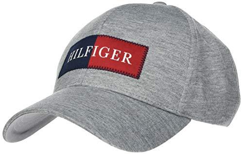 Tommy Hilfiger Herren Hilfiger Jersey Baseball Cap, Grau (Medium Grey Melange 0io), One Size (Herstellergröße: OS)