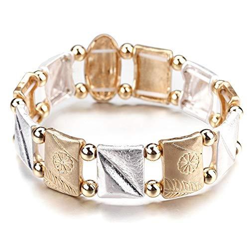 Tea language Leather Bracelets for Women 2019 Fashion Metal Vase Shape Big Charm Boho Wrap Multilayer Wide Bracelet Jewelry