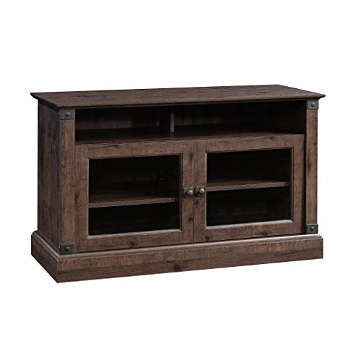 Sauder Carson Forge Panel TV Stand, For TV's up to 47', Coffee Oak Finish