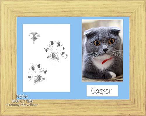 Anika-Baby Cat Animal Patte pattes kit cadre photo effet chêne de chaton souvenir mémoire empreintes personnaliser vous-même Cadeau
