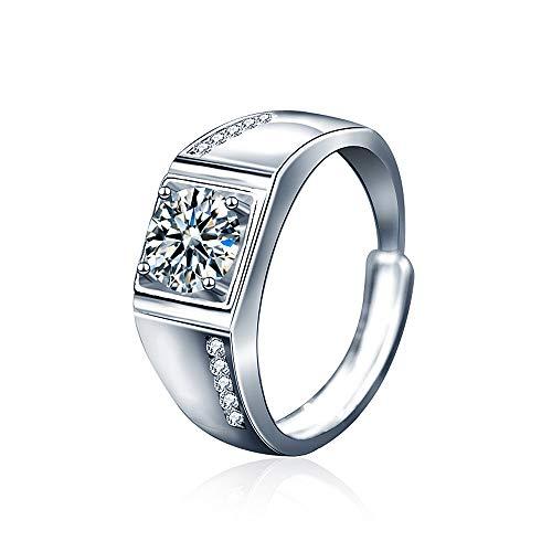 Ala Voglia 4 Prong plain 1ct Moissanite Ring 925 Sterling Silver D Color, VVS Clarity Lab Grown Brilliant Moissanite Jewelry