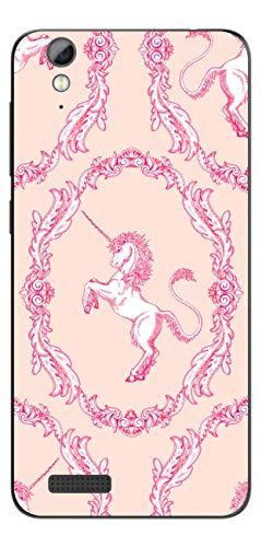 Disagu SF-108098_1128 Design Folie für Phicomm Energy L - Motiv klassisches Einhorn Muster rosa