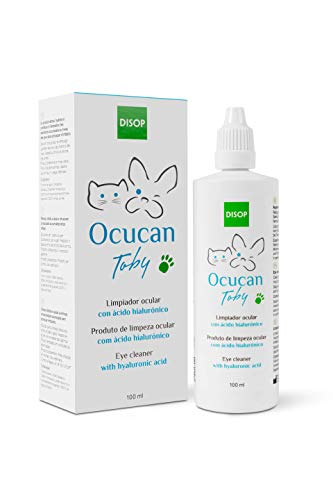 Ocucan Detergente Oculare con Acido Ialuronico, Cura degli Occhi Cani e Gatti - 100 ml