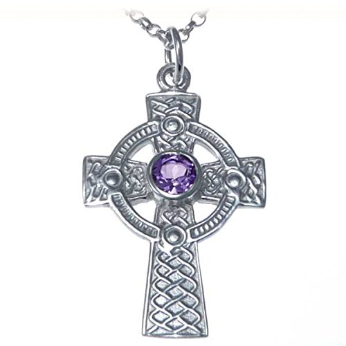 Sterling Silver Celtic Cross Pendant - Irish/Scottish Necklace with 18' Chain