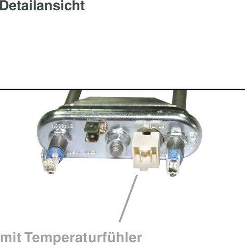 daniplus© Heizelement, Heizung 1950W, 230V mit Temperaturfühler NTC für Waschmaschine Ersatz für AEG Electrolux 132534700/1