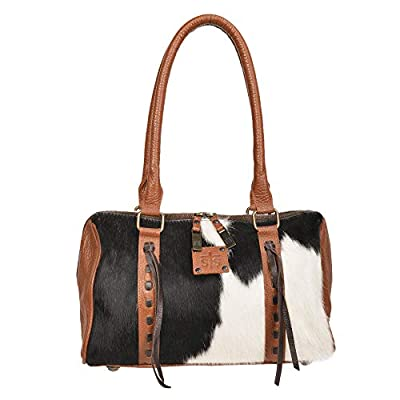 STS Ranchwear Women's The Classic Satchel Cowhide/Brown Leather One Size