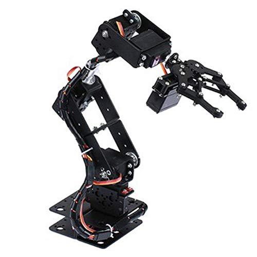 【𝐏𝐚𝐬𝐜𝐮𝐚】 Manipulador Placa de aluminio Brazo mecánico de robot flexible, Brazo de robot, Piezas de robot industrial Producción de bricolaje 6DOF para enseñanza universitaria