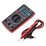 ANENG M1DC/AC Voltage Current Resistance Digital Multimeter Tester 0℃-50℃ Can Measure AC/DC Voltage and Current etc(Red)