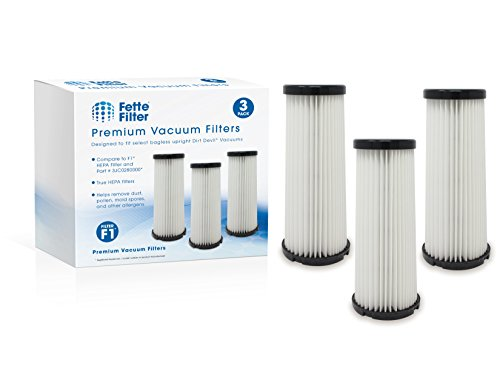 Fette Filter - Vacuum HEPA Filter Compatible with Dirt Devil F1 (F-1) Compare to Part # 3JC0280000, 3-JC0280-000 & 2JC0280000, 2-JC0280-000 (Pack of 3)