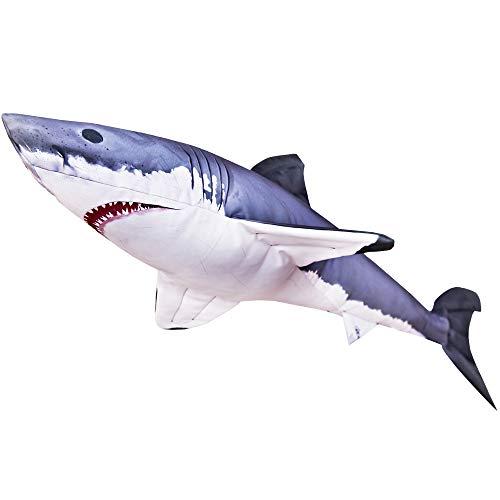Weißer Hai Kissen (Great White Shark Pillow) - Gaby Kuscheltier 120 cm