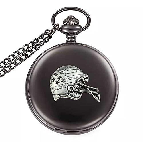 S3 NFL - Reloj de bolsillo de cuarzo para hombre, color negro pulido