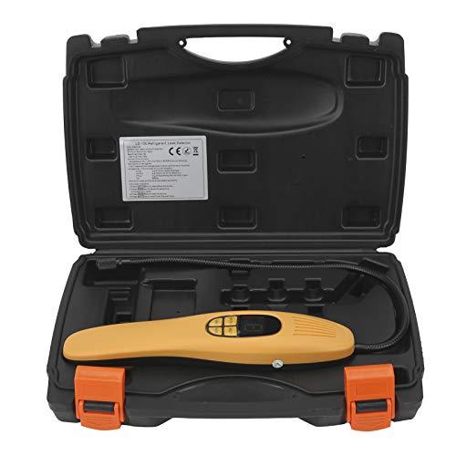 EBTOOLS Detector de fugas de gas refrigerante portátil Detector de fugas de refrigerante Probador con sensor de diodo calentado de respuesta rápida de alta precisión Universal