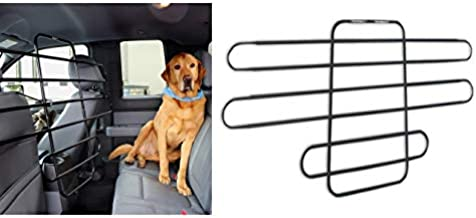 Zookeeper Pet Barrier – Adjustable and Universal for Cars, Trucks, SUVs – Moves with Your Vehicle Seats. Tilt. Slide. Recline. Easy Install Dog Car Gate - Strong Metal Tubing Gate Divider Barrier