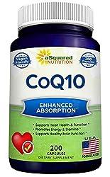 powerful CoQ10 (maximum strength 400 mg, 200 capsules) – Highly absorbent vegan coenzyme Q10 powder – Ubiquinone…