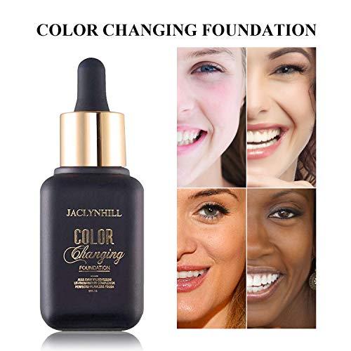 Base de maquillaje, base líquida que cambia de color, oculta arrugas y...