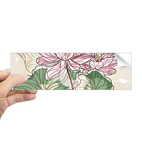 DIYthinker Lotus Bloem Lotus Wortel Aquarel Plant Rechthoek Bumper Sticker Notebook Venster Sticker