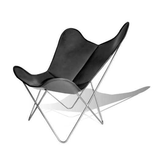Vino baums hardoy Butterfly Chair Original piel negro