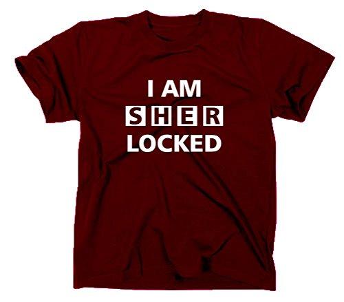 I Am Sherlocked T-Shirt Sherlock Holmes TV, L, Maroon