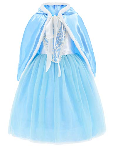 Princess Costumes Fancy Party Birthday,Christmas Dress Up for Little Girls 8-10 Years(140cm)