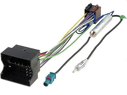 Fiche ISO autoradio compatible avec Citroen C2 C3 C4 C5 Peugeot ap03 + Adaptateur Antenne