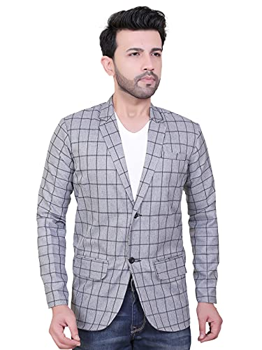 abc garments Casual Checkered Blazer for Men's