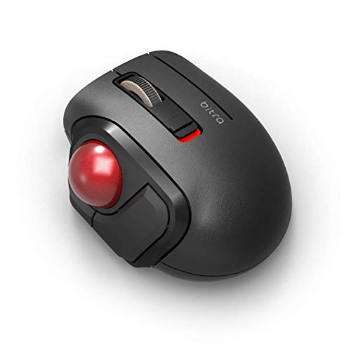 ELECOM Bluetooth Thumb-Operated Compact-Size Trackball Mouse 5-Button Function Smooth Tracking, Less-Noise Precision Optical Gaming Sensor with Semi-Hard Case (M-MT1BRSBK)