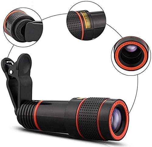 GaoF Kit de Lentes de cámara para teléfono Celular, telescopio monocular Universal, Lente de teléfono móvil con Zoom de teleobjetivo, Montaje para la mayoría de teléfonos Inteligentes 8X 12X 14X