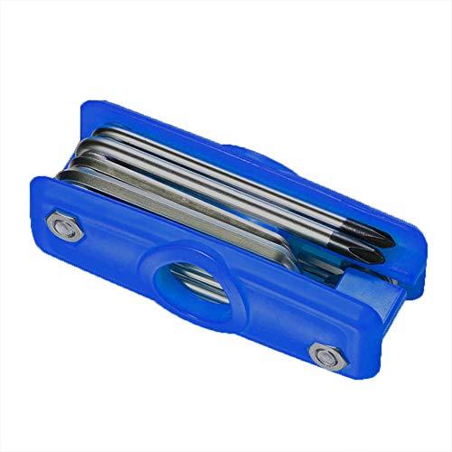 Cicony - Herramienta de reparación para Guitarra eléctrica acústica y bajo, 11 en 1, Multiherramienta, Azul, Tamaño Libre