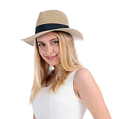Amazon - 45% Off on  Panama Straw Braid Hats Womens Sun Hats Packable Summer Beach
