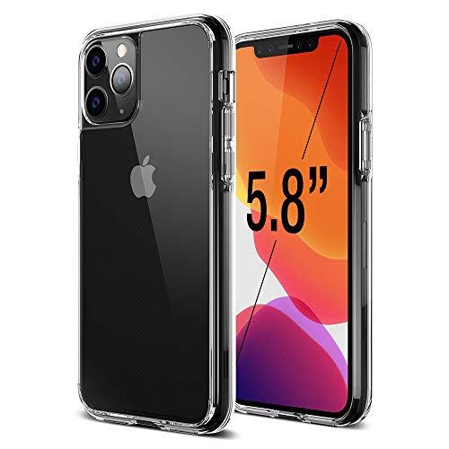 Trianium Clarium Series Designed for Apple iPhone 11 Pro (2019 5.8 Inch) TPU Cushion Clear Frame iPhone 11 Pro Case Protection and Hybrid Rigid Backing Cover - Clear