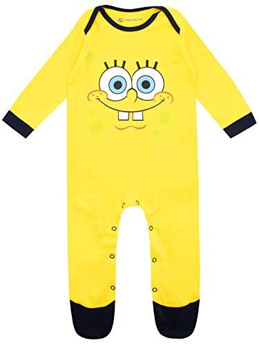 Bob Esponja Pijama Entera para Niños Bebés Spongebob Squarepants Amarillo 0-3 Meses