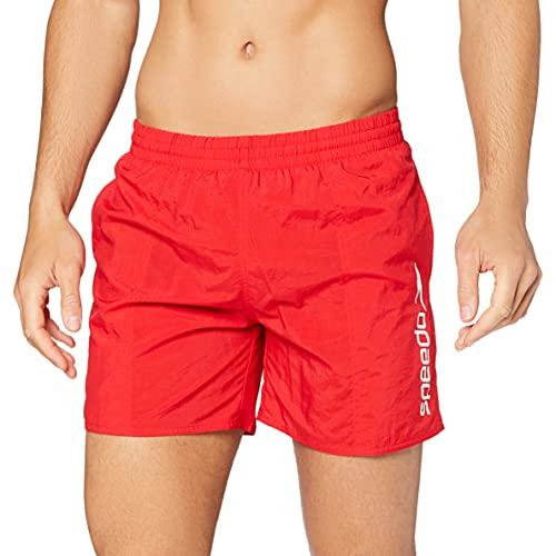 Speedo Scope 16-inch, Costume da Bagno Uomo, Rosso (Fed Red), XL