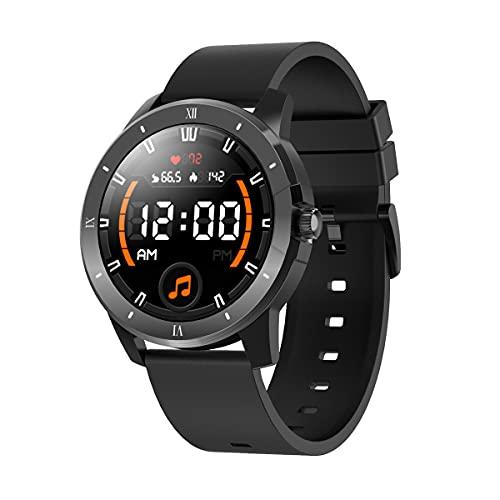 Reloj inteligente para teléfonos Android y teléfonos iOS, relojes inteligentes, pantalla táctil completa de 1.3 ', podómetro a prueba de agua IP68, reloj inteligente que puede reproducir música y ha
