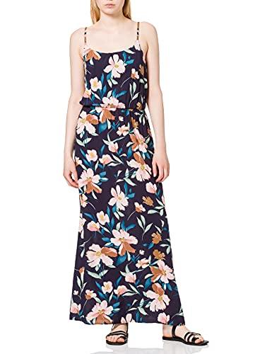 ONLY Damen Onlnova Life Strap Maxi Dress AOP WVN 7 Kleid, Night Sky/AOP:Bruxelles Flower, 38