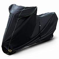 Barrichello(バリチェロ) バイクカバー ブラック M~7L 選べる8サイズ 高級 オックス 300D 使用 厚手 生地 防水 【M】