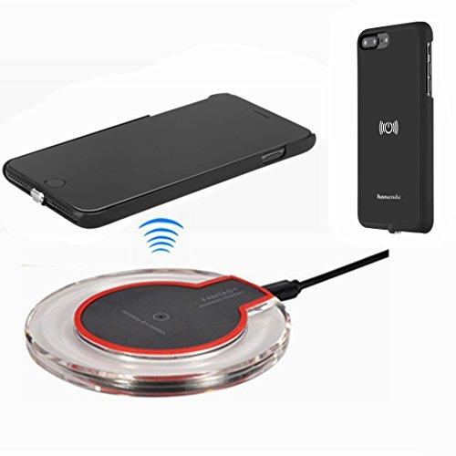 hanende Kit de Cargador Inalámbrico para iPhone 7 Plus, Qi Carga inalámbrica Pad y Receptor inalámbrico para iPhone 7 Plus (Negro)