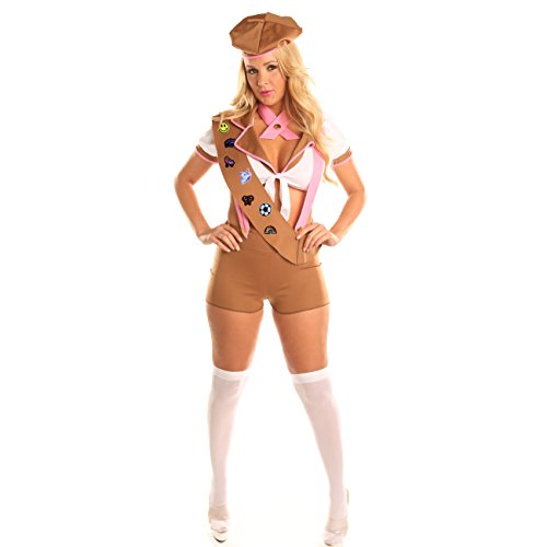 Disiao Sexy Scout Role Play Costume Set Halloween Suits Cosplay for Teen Girl Woman (M, Brown)