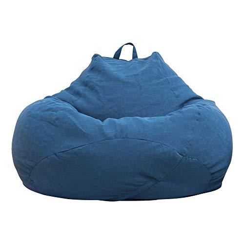 Souarts Sitzsack Bean Bag Covers Ohne Füllung Indoor Bodenkissen Chair Sitzsäcke Möbel Kissen Sessel Sofa BeanBag (80cmx90cm, Königsblau)