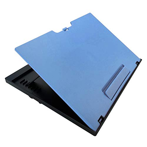 KANJJ-YU Portable Home Lap Tray Outdoor Foldable Cushion Bedroom Multifunction Students Laptop Desk Convenience Travel Adjustable Stand Reading Foldable (Color : Blue)