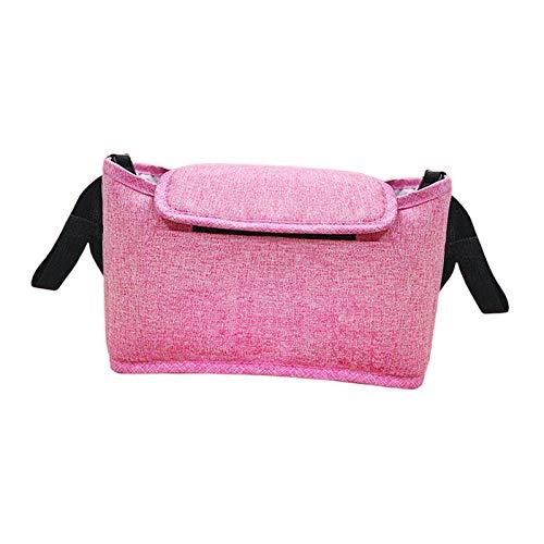 F Fityle Kids Baby Stroller Hanging Bag Pram Organiser Bag Bottle Cup Holder Buggy Accessories - Pink