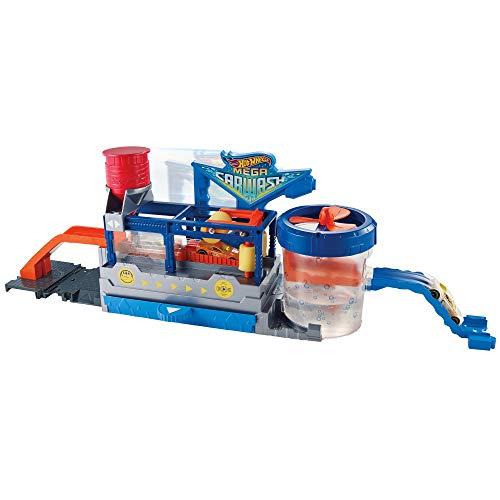 Hot Wheels - Supertúnel de lavado, pista de coches de juguete (Mattel GWT33)