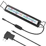 Luz Acuario Luz LED Acuario para Acuarios de 45/70cm, Impermeable IP66, 18W, 700 Lúmenes, 3 Modos de Luz , Intensidad Ajustable, Temporizador, Soporte Extensible, Aleación de Aluminio (Modelo ZL-50)
