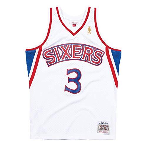 Mitchell & Ness Philadelphia 76ers Allen Iverson 1996 Maillot de swingman domicile, mixte adulte, blanc, Medium