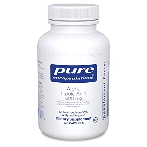 Pure Encapsulations Alpha Lipoic Acid 600 mg | ALA Supplement for Liver Support, Antioxidants, Nerve and Cardiovascular Health, Free Radicals, and Glucose Support* | 120 Capsules