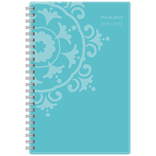 """AT-A-GLANCE Academic Year Weekly / Monthly Appointment Book / Planner, July 2016 - June 2017, 4-7/8""""x8"""", School, Suzani (917-200A)"""